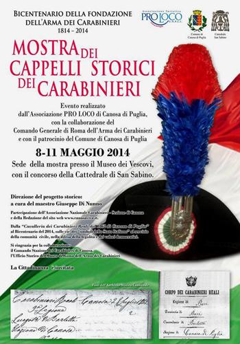 "Canosa  ""Mostra dei Cappelli Storici dei Carabinieri"" ae31d03dc4ee"