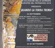 """""""Quando la terra trema"""": pasta all'amatriciana e vino di solidarietà in occasione delle Giornate europee del Patrimonio 2016"""