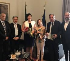 Visita istituzionale presso il Palazzo del Governo di Barletta dell'Ambasciatrice della Repubblica di Moldova in Italia
