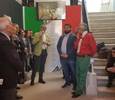 Festa dell'Unità d'Italia: il saluto del sindaco di Canosa, Ernesto La Salvia, e dell'assessore Elia Marro