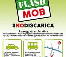 Flash Mob del comitato No discarica in contrada Tufarelle