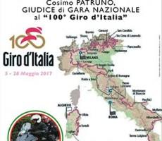 """La città di Canosa e l'Assessorato allo Sport augura """"buon lavoro al concittadino Cosimo Patruno, giudice di gara nazionale al centesimo Giro d'Italia"""