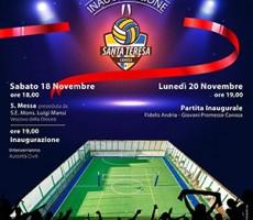Inaugurazione campo sportivo Santa Teresa