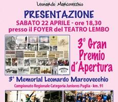 A Canosa la presentazione del 3° Memorial Marcovecchio