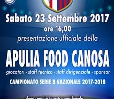 L´Apulia Food Canosa si presenta alla città - Sabato 23 Settembre 2017 - Palazzetto dello Sport