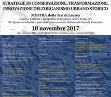 Strategie di conservazione, trasformazione, innovazione dell'organismo urbano storico