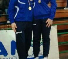 Luca Silvestri e Lucia Bucci Oro ai Campionati Italiani Assoluti di Karate