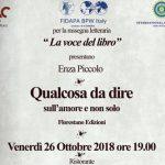 """Fidapa: Venerdì 26 ottobre, la presentazione del libro di Enza Piccolo """"Qualcosa da dire"""""""