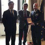 Visita in Prefettura del generale di Brigata Aerea dell'Areonautica Militare di Bari Paolo Tarantino