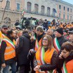 La protesta degli agricoltori a Bari
