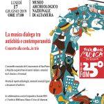 Il Museo Nazionale Archeologico di Altamura organizza due affascinanti appuntamenti all'insegna dell'arte e della musica